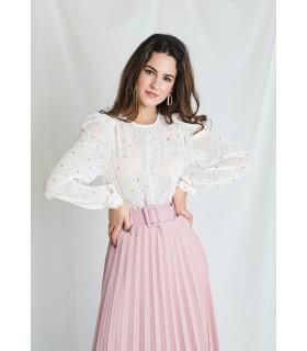 Blusa Blanca Corazones