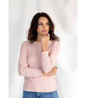 Camiseta Basic Botones Rosa
