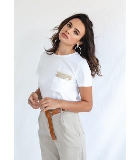 Camiseta Bolsillo Blanca