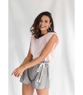 Short Rayitas Gris