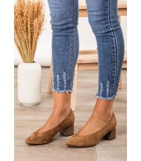 Zapatos Tacón Camel