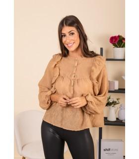 Blusa Liz Camel