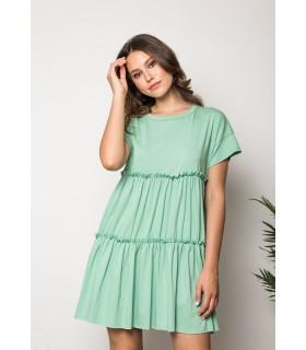 Vestido Evasé Verde Mar