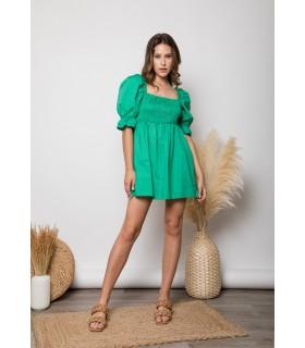 Vestido/Blusa Verde Nido Abeja