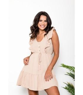 Vestido Laura Beige
