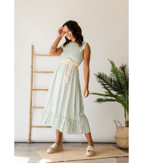 Vestido Mel Estampado Mint