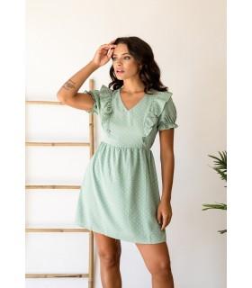 Vestido Topos Mint