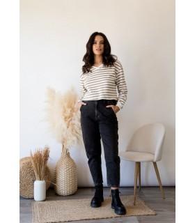 Jeans Hi-Rise Gris