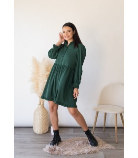 Vestido Camisero Verde Esmeralda