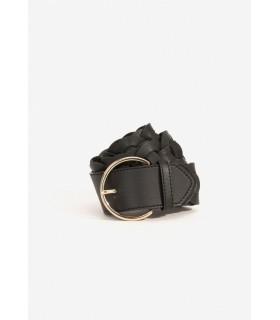 Cinturón Trenzado Negro