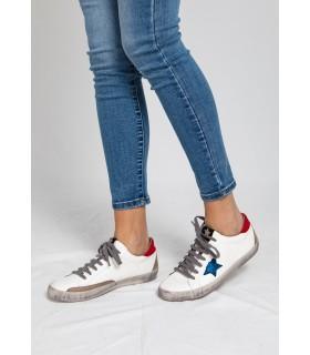 Zapatillas Alan Azul Rojo