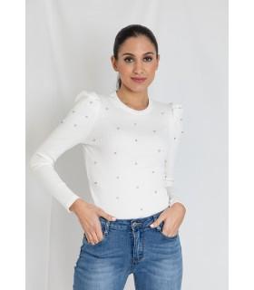 Camiseta Perlas Blanca